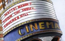 Bioscoopbord. Poster Colour op papier