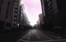 Dogenzaka. Straat in Tokio. Poster Colour op papier.