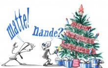Voorkant kerstkaart 2013 van Matte! Nande?
