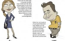 Lien en Lou. 2011 - Inkt op papier en Photoshop. In opdracht van Rabobank Nederland