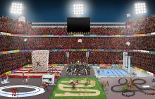 Thinc Ahead stadion. Inkt op papier en Photoshop. Ardata Reclame